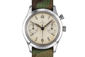 1960 Omega Single Button Royal Canadian Air Force Chronograph Reference 34/62 photo
