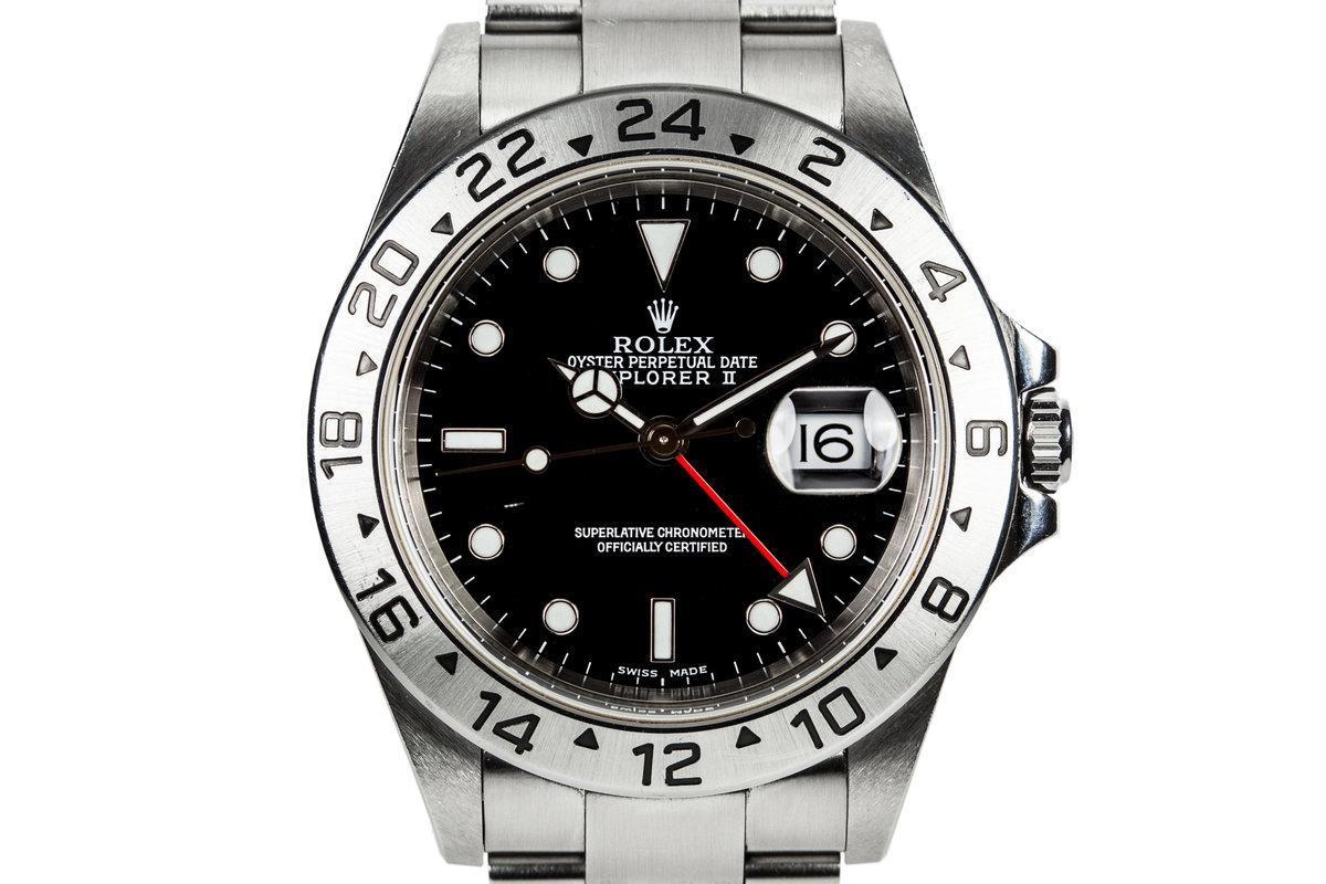 2000 Rolex Explorer II 16570 Black Dial photo, #0