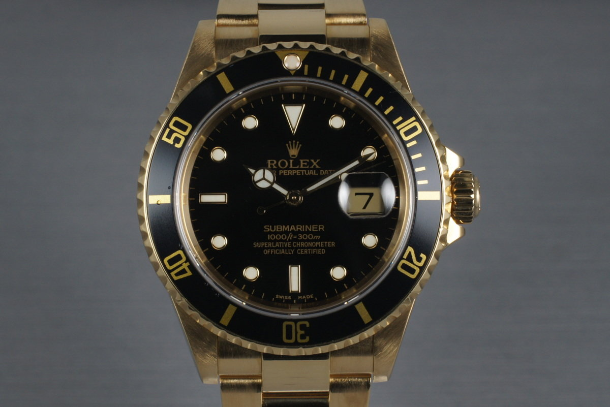 2003 Rolex Submariner  16618 with Black Dial photo, #0