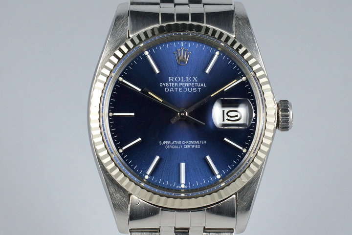 1981 Rolex DateJust 16014 Blue Dial photo
