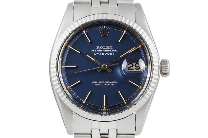 1974 Rolex DateJust 1601 Blue Dial photo