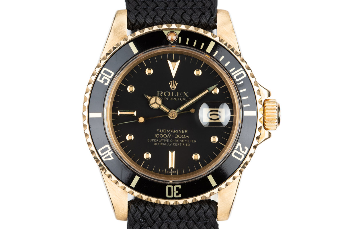 1981 Rolex 18K YG Submariner 16808 Black Nipple Dial photo, #0