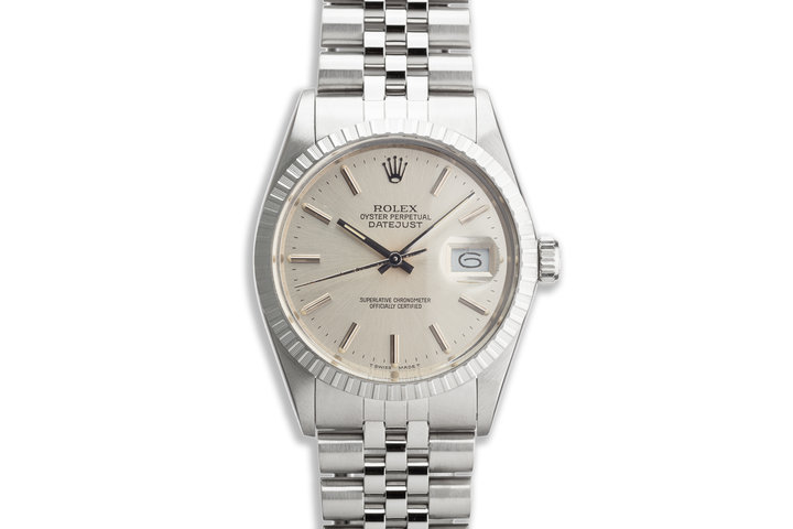 1987 Vintage Rolex DateJust 16030 Silver Dial with Papers photo