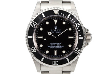 2006 Rolex Submariner 14060M Four-Line Dial with Box and Papers photo