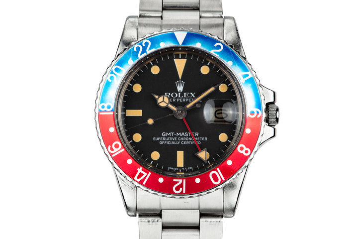 """1977 Rolex GMT-Master 1675 """"Pepsi"""" with Box and Papers photo"""