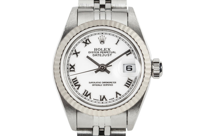 1999 Rolex Ladies Datejust 69174 with White Gold Bezel and Box and Papers photo