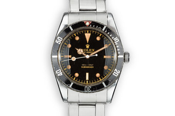 1957 Rolex Submariner 6536 with Red Triangle Insert photo