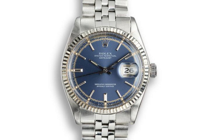 1973 Rolex DateJust 1601 Blue Sigma Dial photo