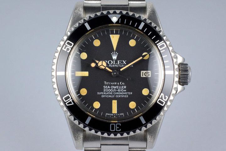 1981 Rolex Sea Dweller 1665 Mark IV Tiffany & Co. Dial photo