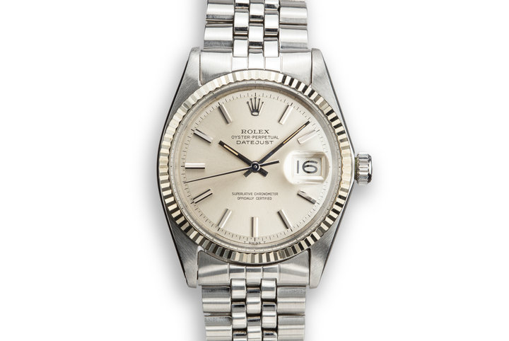 1968 Rolex DateJust 1601 No Lume Silver Dial photo