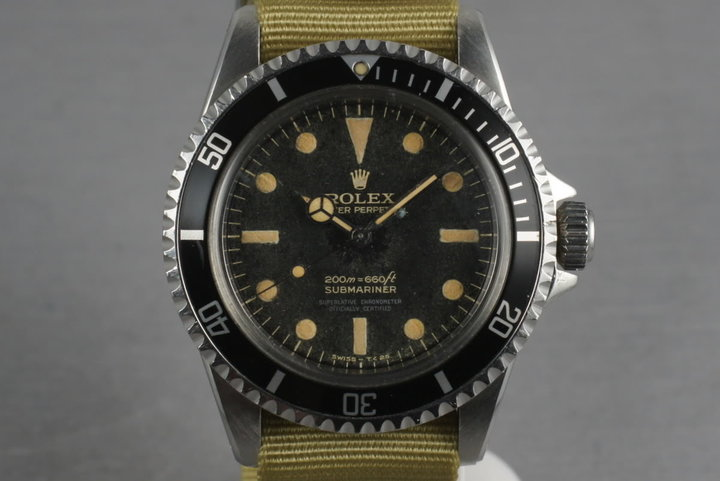 1963 Rolex Submariner 5512 PCG with 4 line gilt non chapter ring dial photo