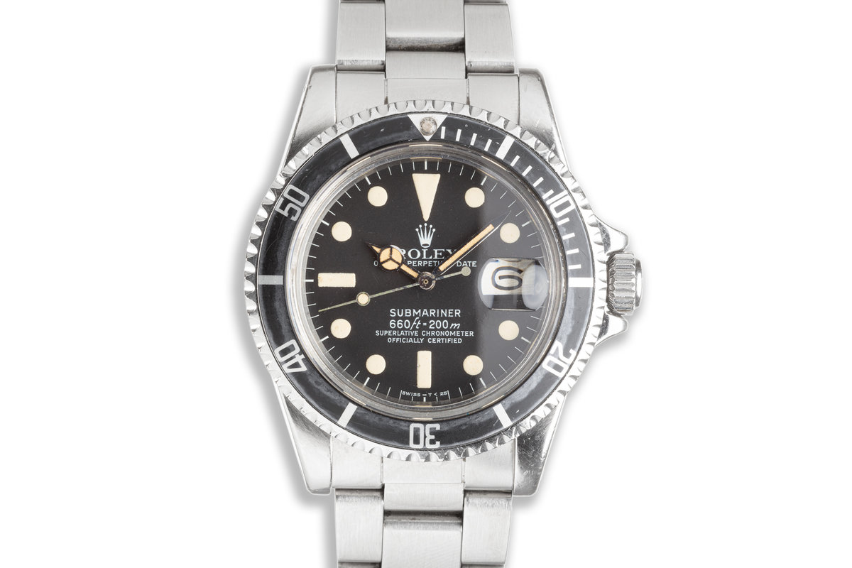 1978 Vintage Rolex Submariner 1680 with Creamy Tritium Lume and Service Papers photo, #0