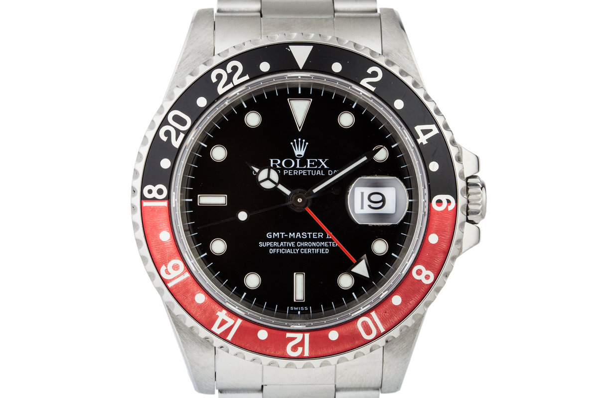 1999 Rolex GMT II 16710 with Swiss Only Dial photo, #0