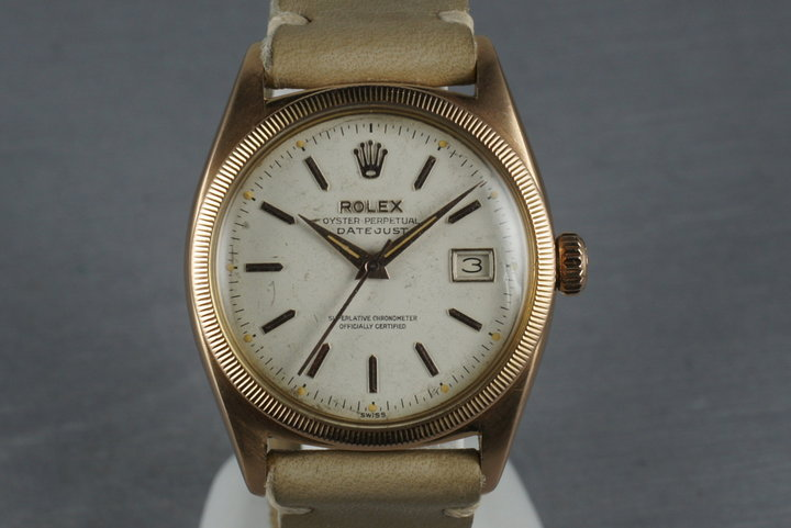 1954 Rolex 18K Rose Gold Datejust  6305 photo