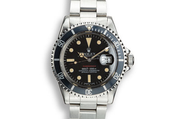 "1974 Rolex ""Fuerza Aerea del Perù"" Red Submariner 1680 With Mark 6 Dial photo"