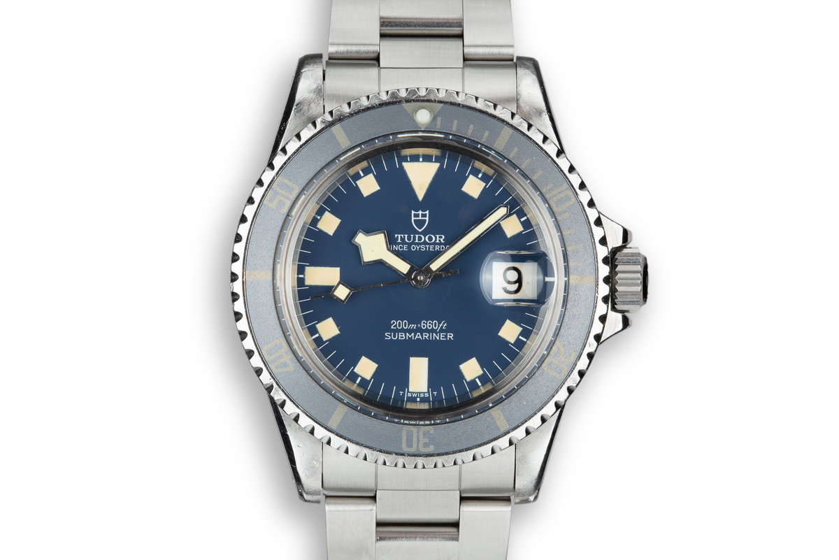 1976 Tudor Snowflake Submariner 9411/0 Blue Dial with Service Papers photo, #0