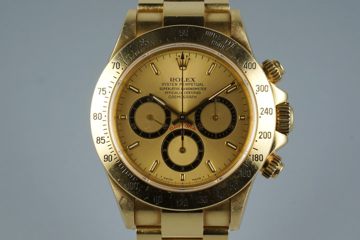 1990 Rolex 18K YG Zenith Daytona 16528 photo