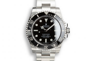 2016 Rolex Submariner 114060 with Box and Papers photo