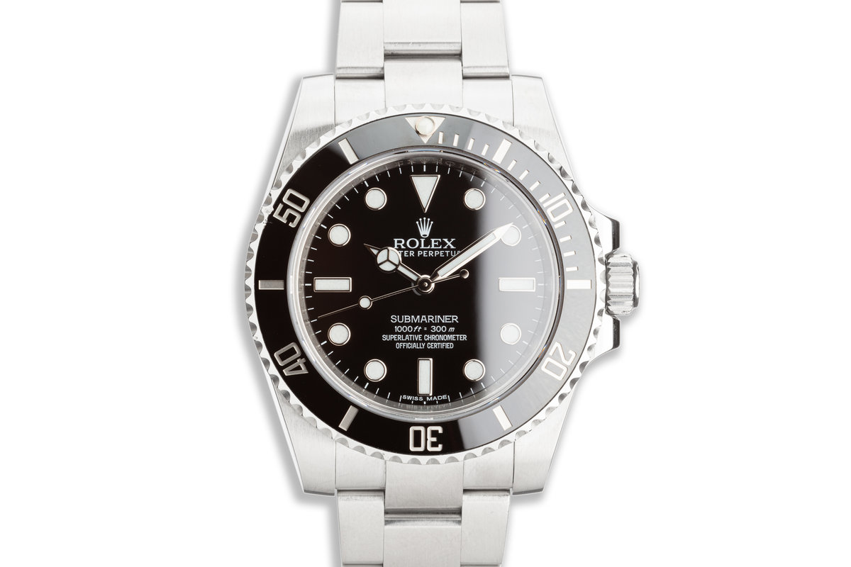 2015 Rolex Submariner No-Date 114060 with Box & Card photo, #0