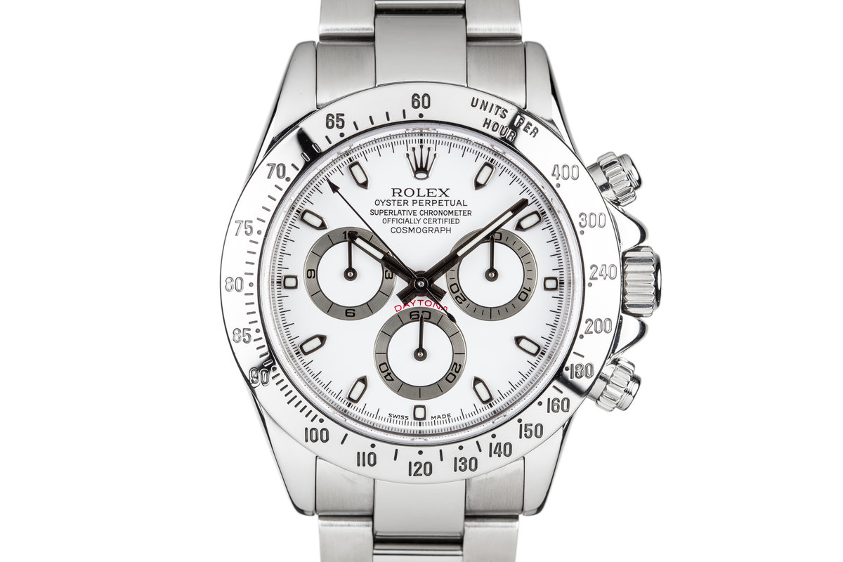 2003 Rolex Daytona 116520 White Dial with Box and Papers photo, #0