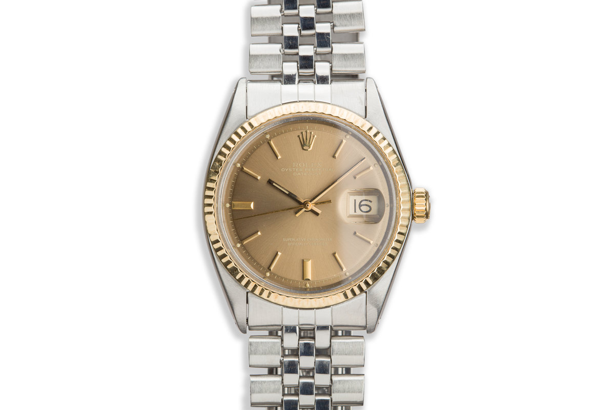 1968 Vintage Rolex DateJust 1601 Gold Dial photo, #0