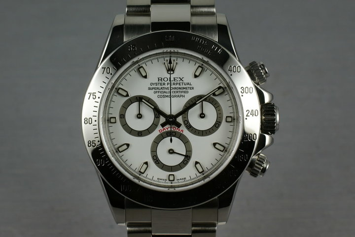 2001 Rolex SS Daytona  116520 White Dial with Box and Papers photo