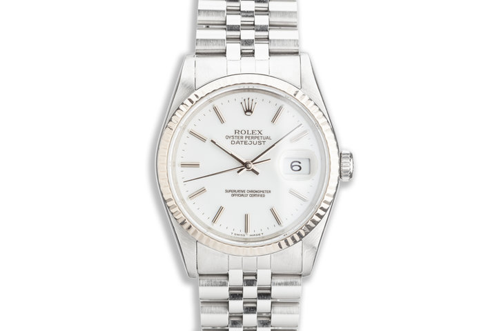 1991 Rolex DateJust 16234 with White Dial photo