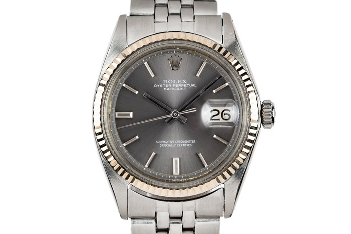 1970 Rolex Datejust 1601 Grey No Lume Dial photo