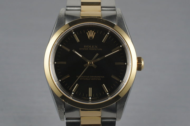 1997 Rolex Two Tone Oyster Perpetual 14203 with Box and Papers photo