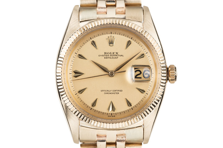 1965 Rolex 18K YG DateJust 6305 photo