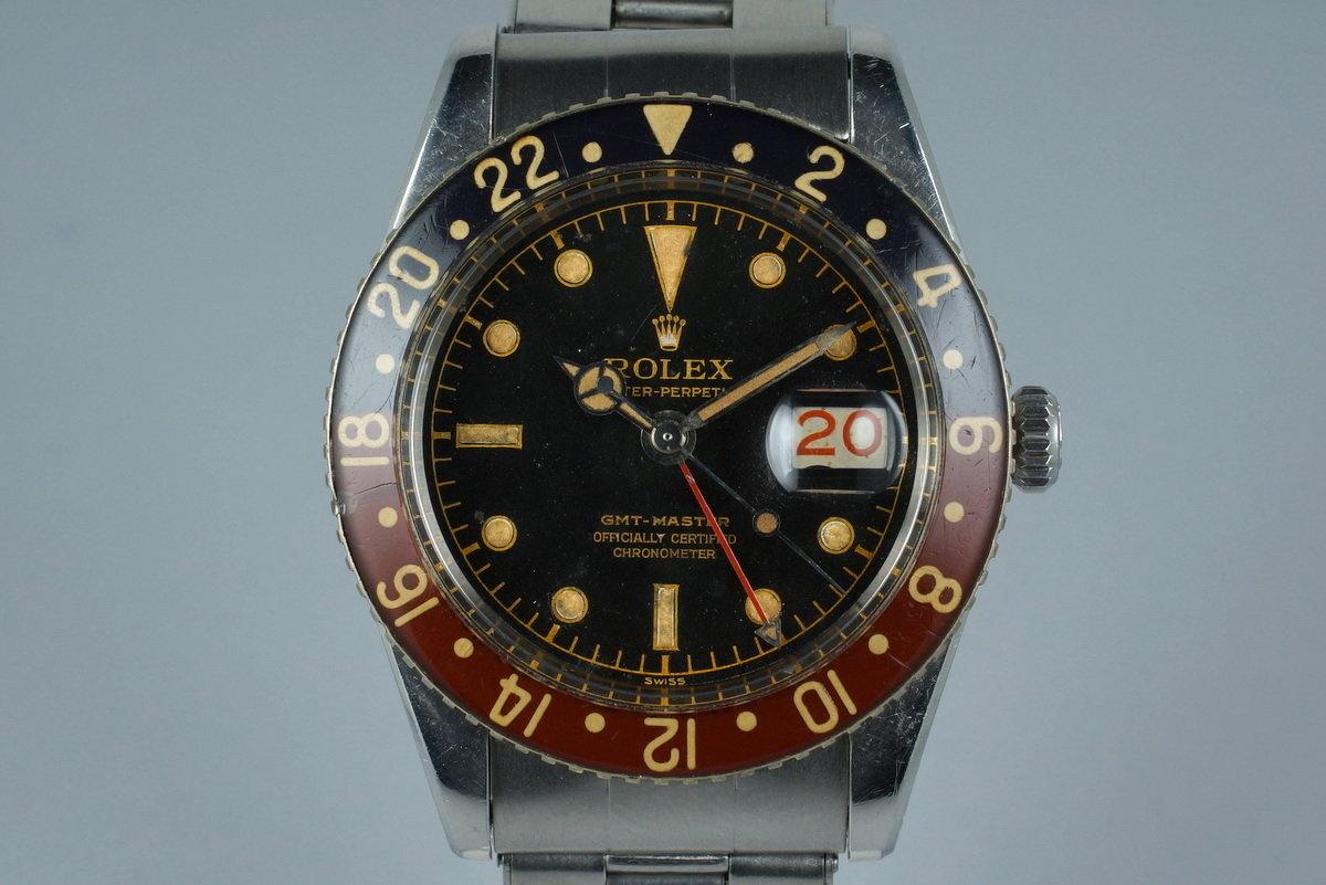 1958 Rolex GMT 6542 Glossy Gilt Chapter Ring with BAKELITE Bezel photo, #0