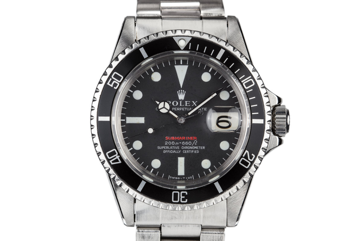 1969 Rolex Red Submariner 1680 with Meters First Dial photo, #0