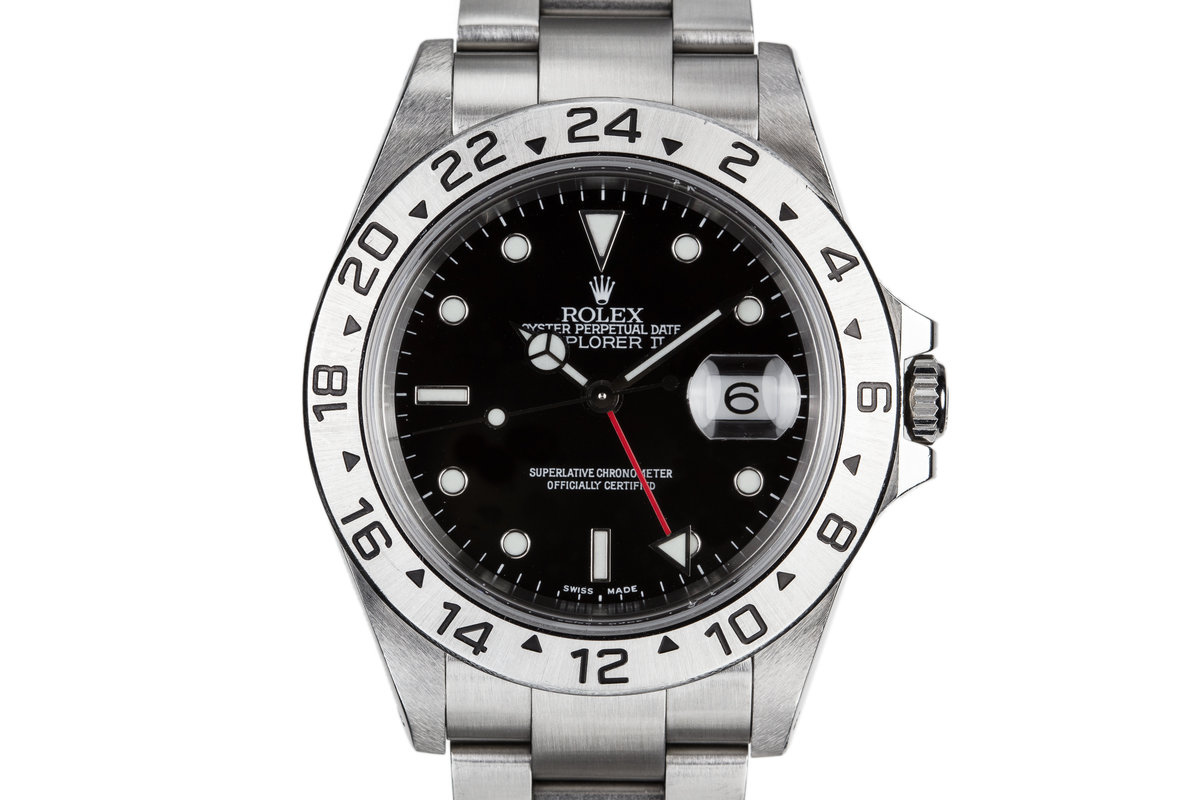 2000 Rolex Explorer II 16570 Black Dial with Box and Papers photo, #0