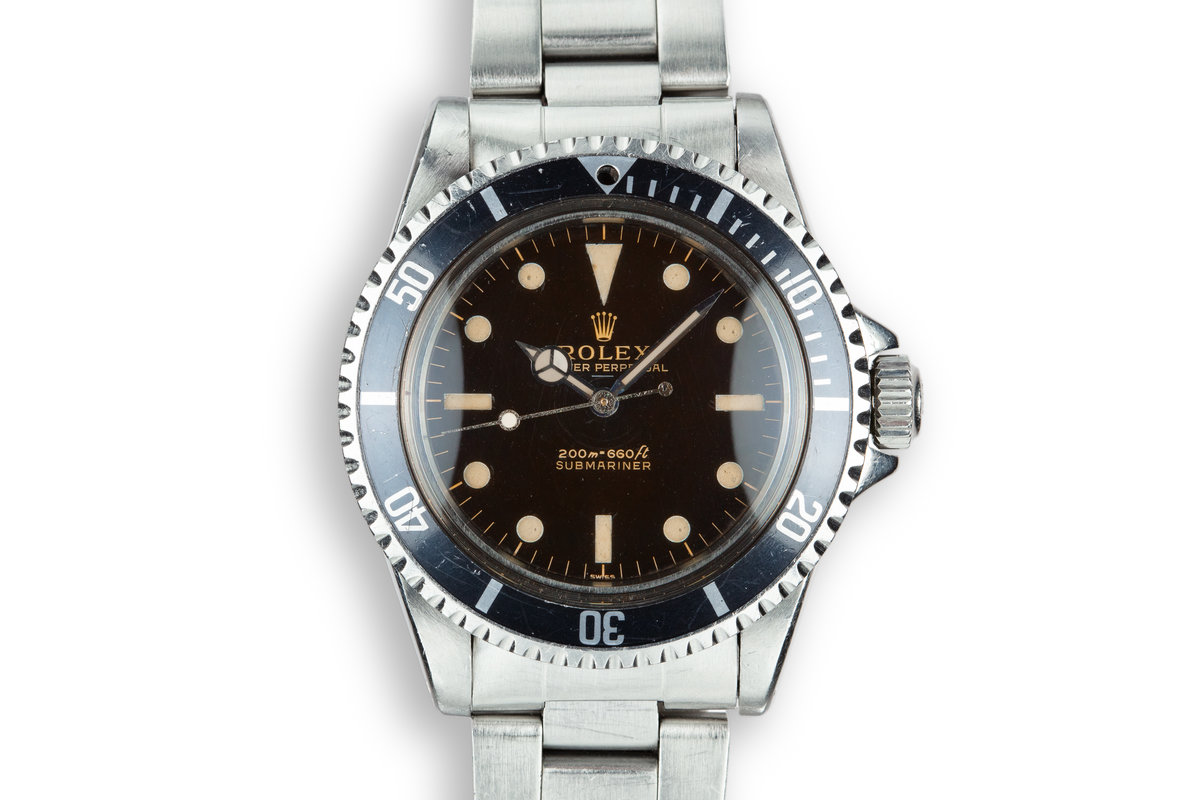 1963 Rolex Submariner 5513 Pointed Crown Guard Case with Gilt Underline Dial with Royal Navy Dive History photo, #0
