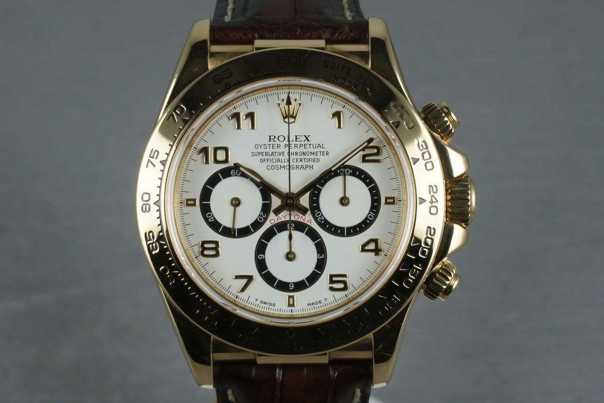 1994 Rolex 18K Zenith Daytona 16518 with Box and Papers photo, #0