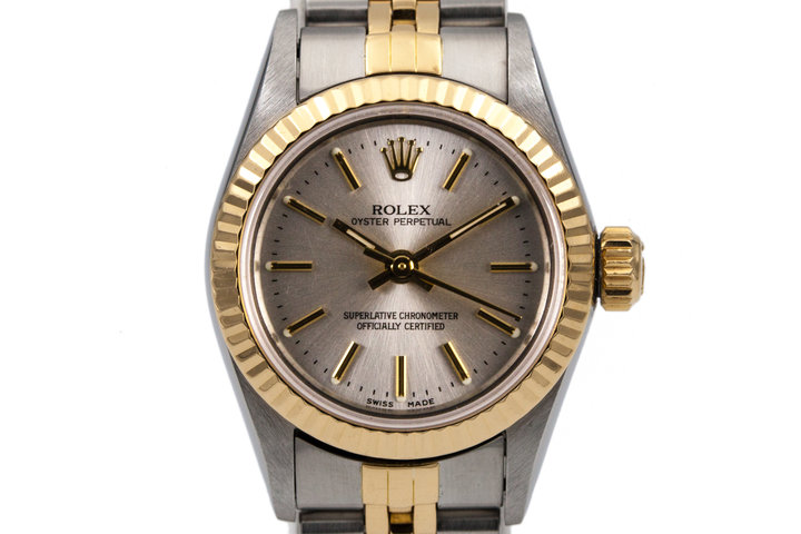 1989 Rolex Ladies Two Tone Oyster Perpetual 67193 photo