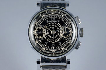 Vintage Cronografo D.H. 2-Register Chronograph with Black Dial photo