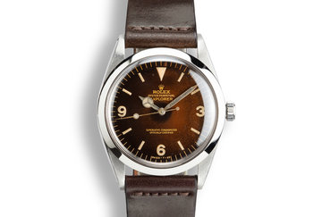 1965 Rolex Explorer 1016 with Tropical Gilt Dial photo
