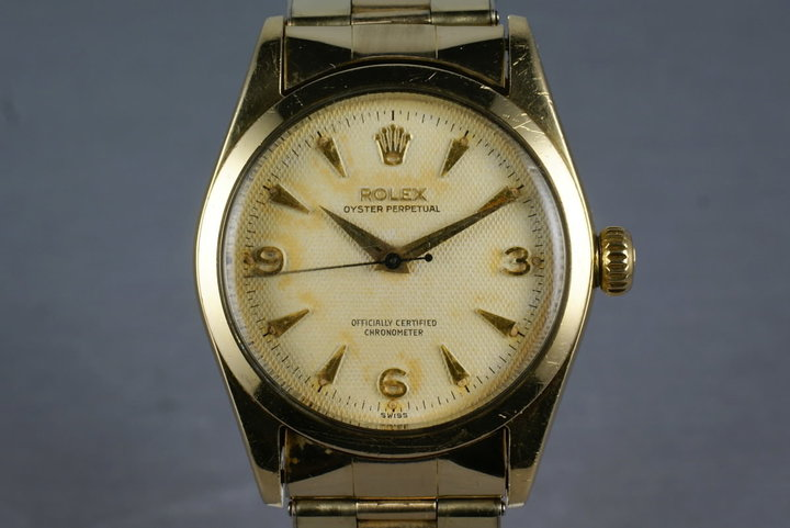 1973 Rolex None Date 6634 with a white waffle dial photo