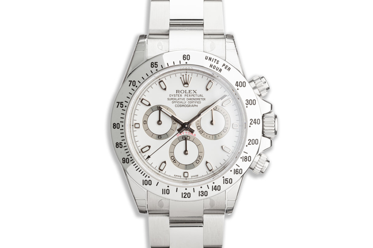 2012 Unworn Rolex Daytona 116520 White APH Dial with Box and Card with Stickers photo, #0
