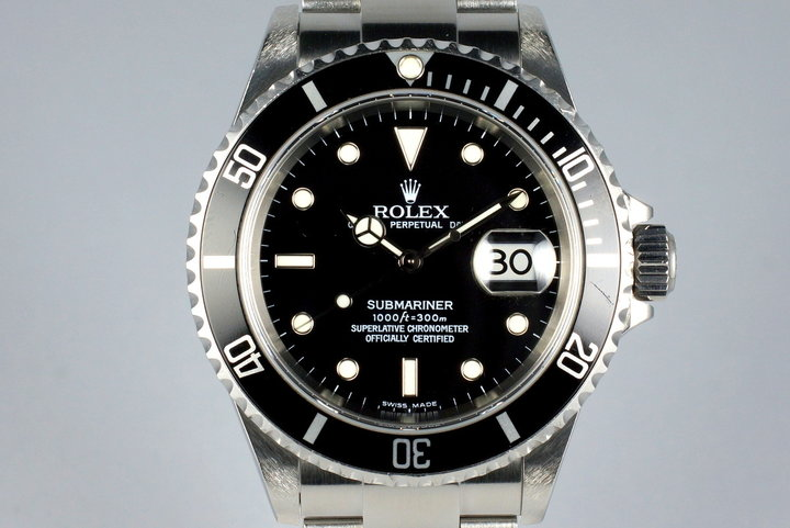2003 Rolex Submariner 16610 with Box and Papers photo