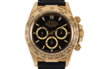 1999 Rolex YG Zenith Daytona 16518 Black Dial photo