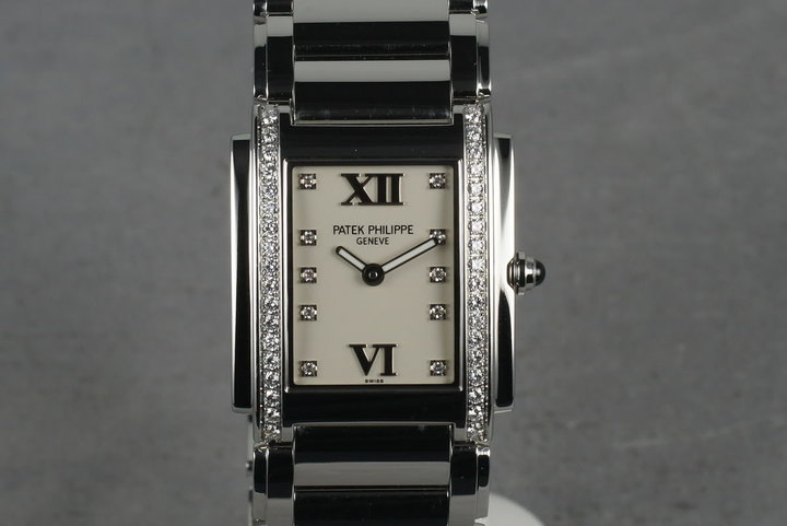 Patek Philippe Ladies 24 with Diamonds and Box and Papers photo