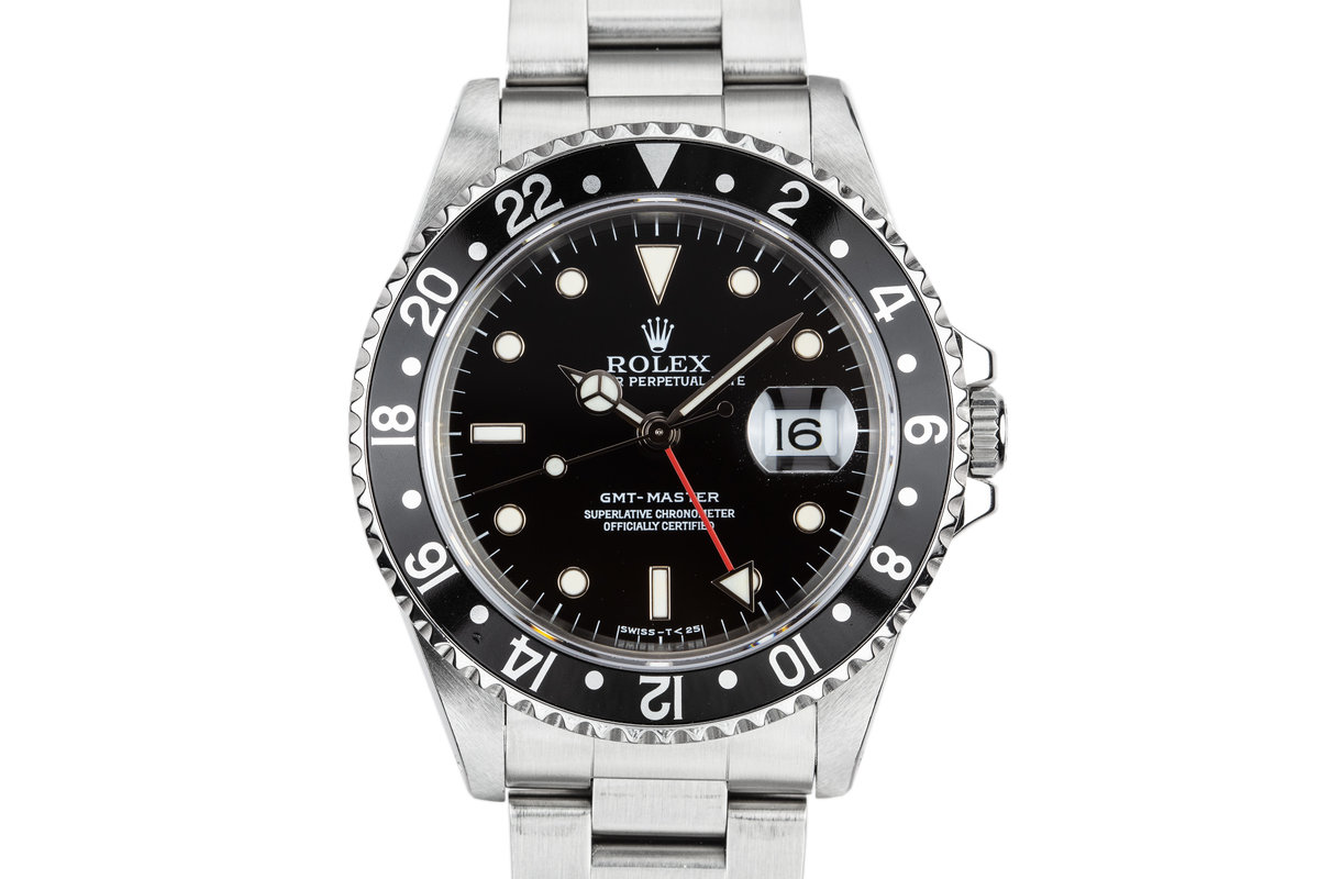 1995 Rolex GMT-Master 16700 Black Bezel with Service Papers photo, #0