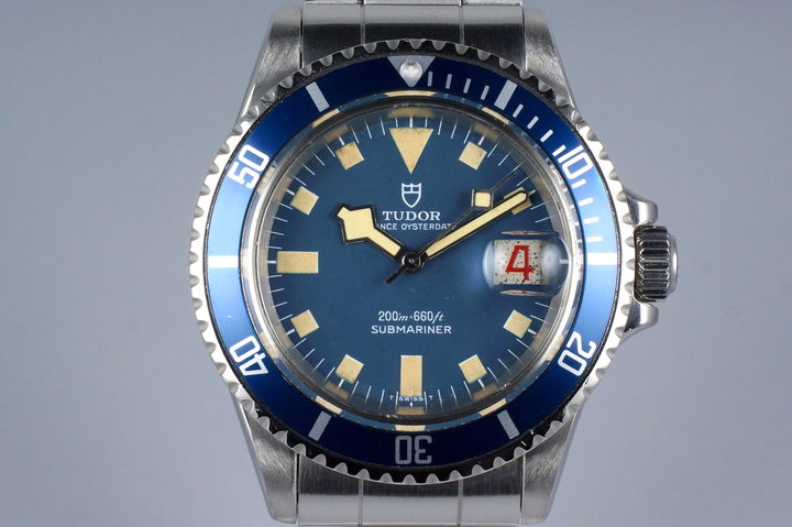 1970 Tudor Submariner 7021/0 Blue Snowflake with Papers photo