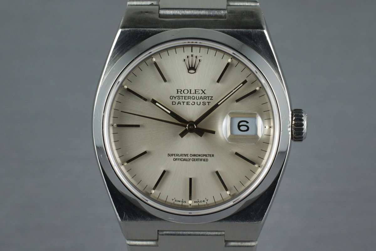 1990 Rolex OysterQuartz DateJust 17000 with Box and Papers photo, #0