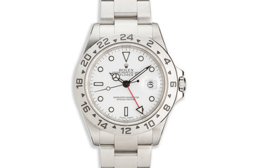 """2003 Rolex Explorer II 16570 """"Polar"""" White Dial photo"""