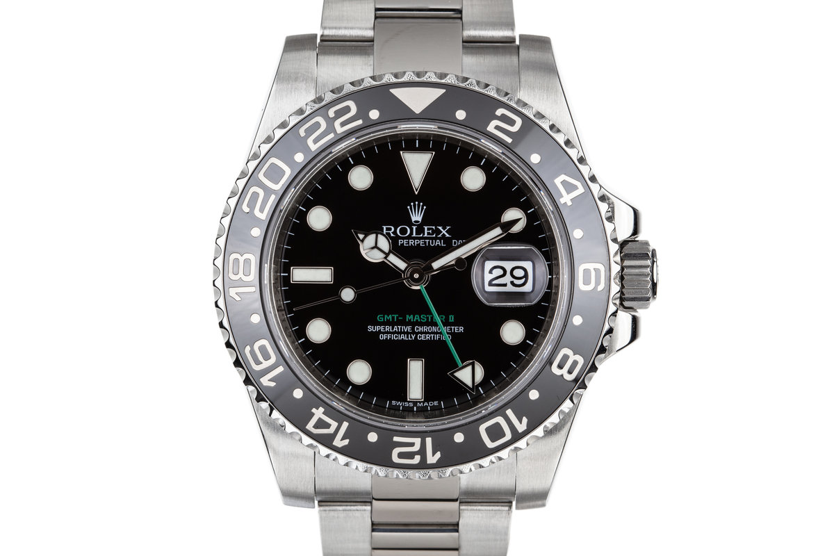 2009 Rolex GMT-Master II 16710LN Black Bezel with Box, Papers, and Service Papers photo, #0