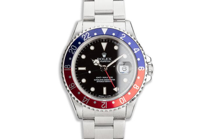 """1996 Rolex GMT-Master 16700 """"Pepsi"""" photo"""