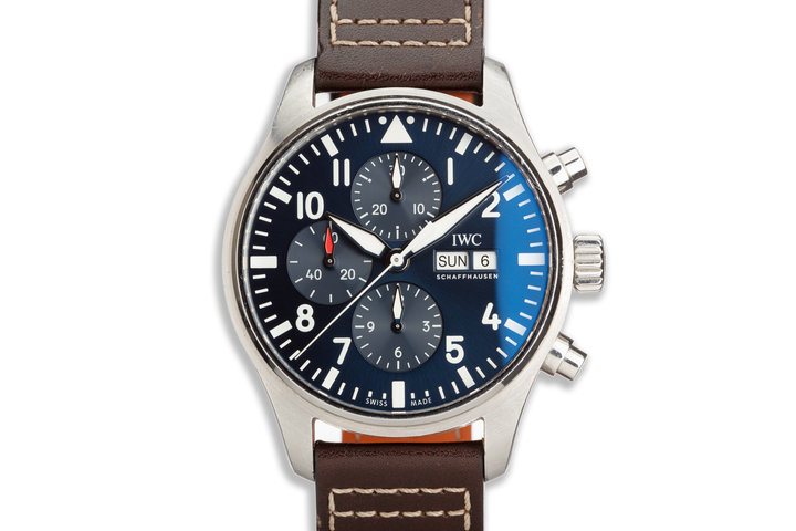 2016 IWC Pilots Chronograph Le Petit Prince Special Edition IW377714 with Box and Papers photo